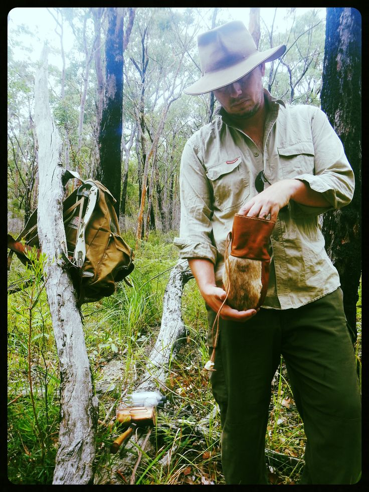 https://flic.kr/p/B7L1dw | Kangaroo Tail Fur Pouch