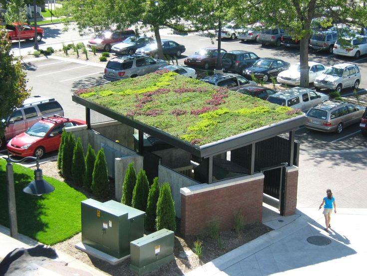 @dakwaarde via Twitter - voorbeelden van kleine groene daken in de stad