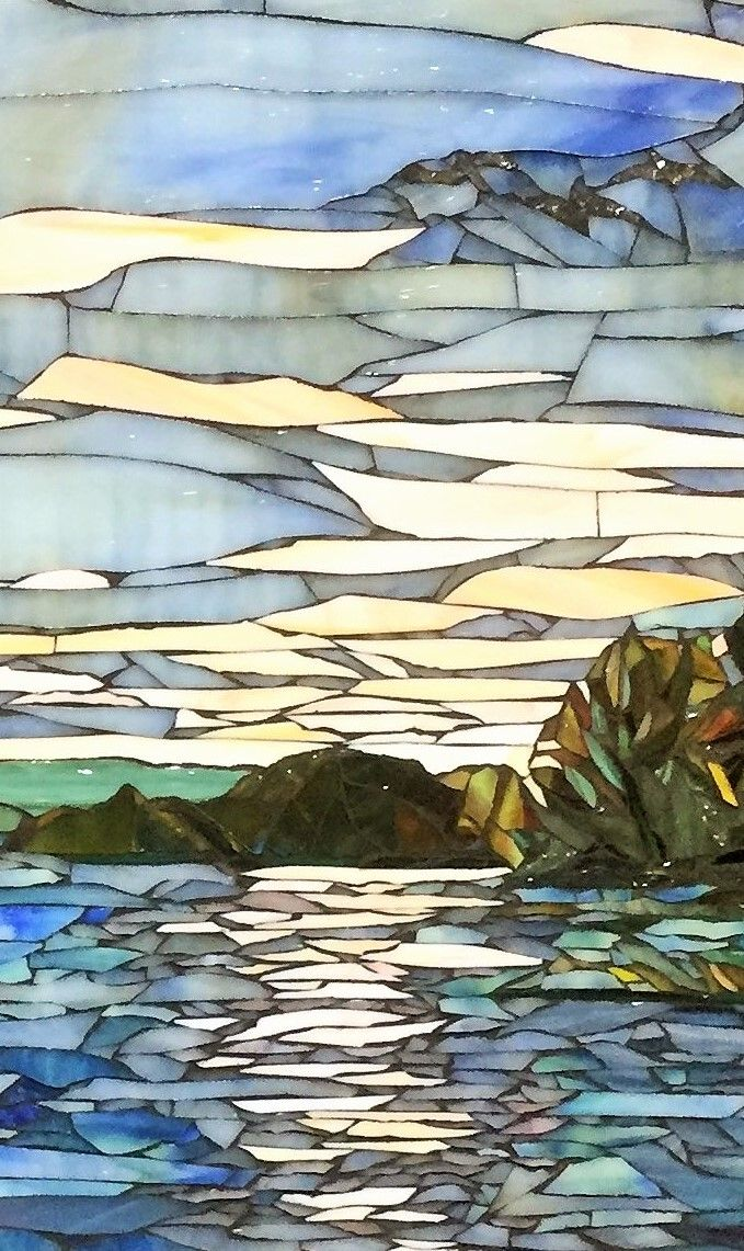 Sunset Lake detail - Mosaic by Debra D'Souza