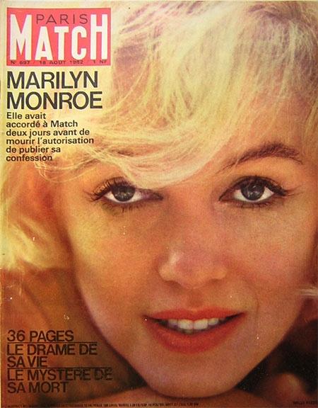 Paris Match du 18/08/1962 - Décès de Marilyn Monroe