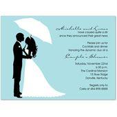 Couple's Silhouette Bali Wedding Wedding Invitation Card