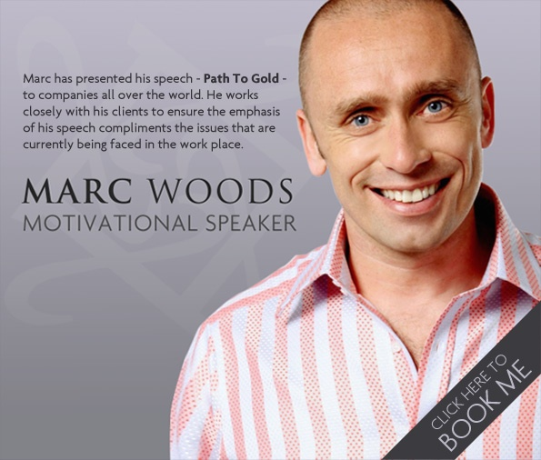 One of the people I admire most - Marc Woods' had his left leg amputated due to cancer when he was just seventeen years old, however just 18 months after he finished his chemotherapy he was selected to represent Great Britain's swimming team at the Seoul Paralympics. Now retired from international swimming Marc has embarked on a series of new challenges and he regularly commentates for the BBC. He is passionate about delivering his message to businesses all over the world.