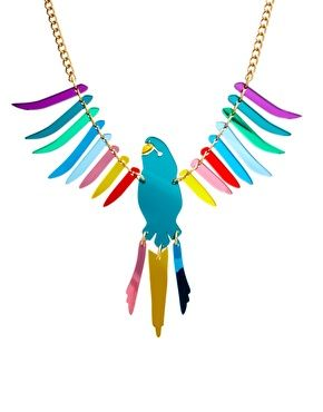 Tatty Devine Exclusive To ASOS Large Parakeet Necklace  $262.80