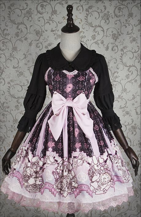 Are you Alice? Would you please take the bunny home >>> http://www.my-lolita-dress.com/ista-mori-bunny-alice-lolita-jumper-dresses ❤❤❤