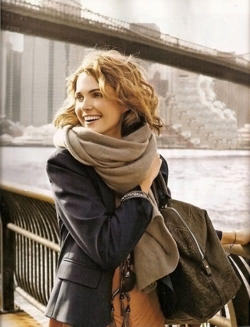 scarf, blazer, bags