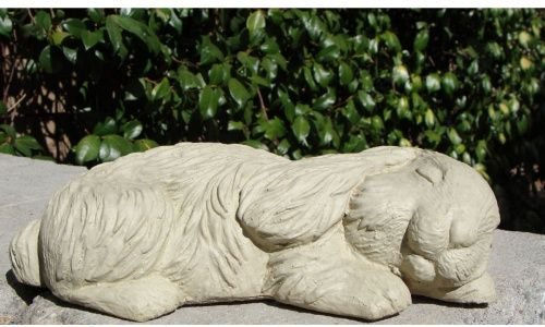 $45 Sleeping Bunny Garden Statue - Garden Statues at Hayneedle