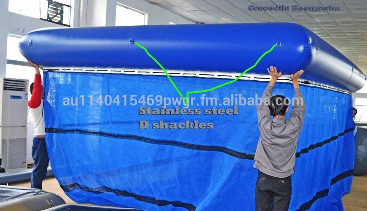 Box jellyfish inflatable boom fully netting swimming enclosures