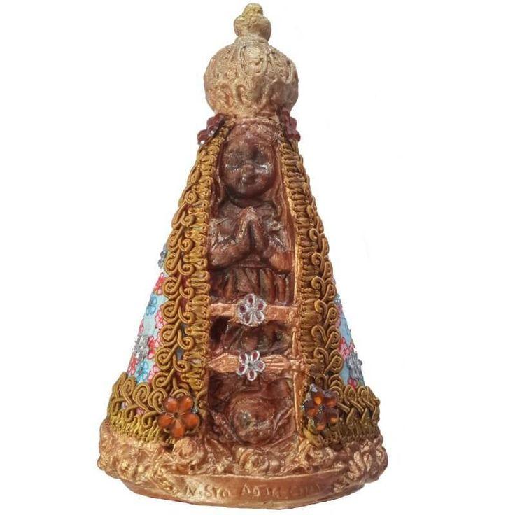 Imagem Nossa Senhora Aparecida Bebe em Decoupage frente