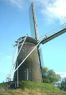 Moinho de vento Prins van Oranje em Bredevoort, nos Países Baixos