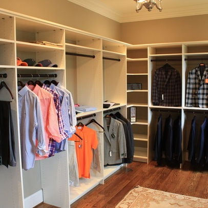 Walk In Closet Idea. David could so build this for me.