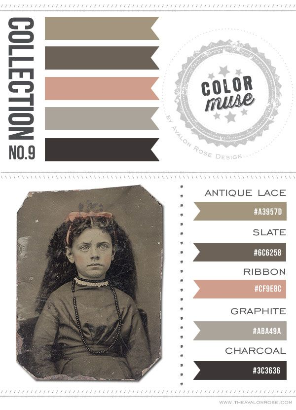 Color Muse, color scheme. Pink, gray, brown