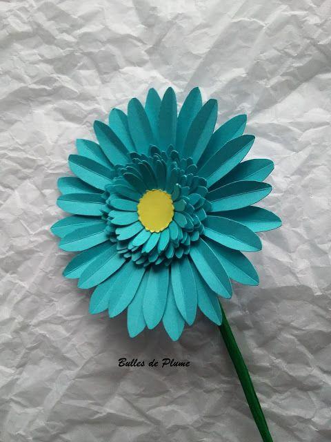 Bulles de Plume: DIY - Fleurs Gerbera en papier