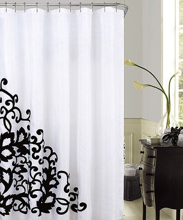Romance Embroidered Fabric Shower Curtain #zulily #zulilyfinds
