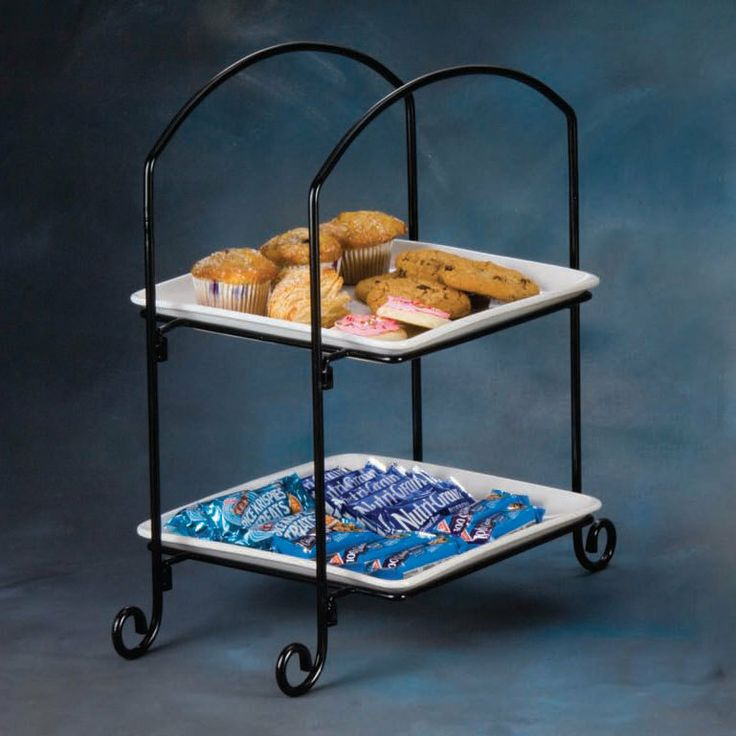American Metalcraft IS8 Two-Tier Square Display Stand