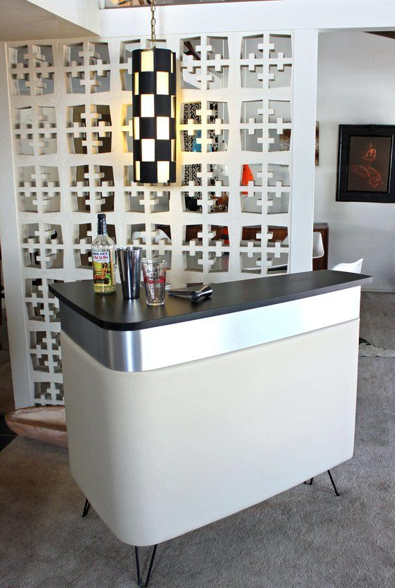 Home Bar Mid Century Modern Reception Desk Front Desk Stand