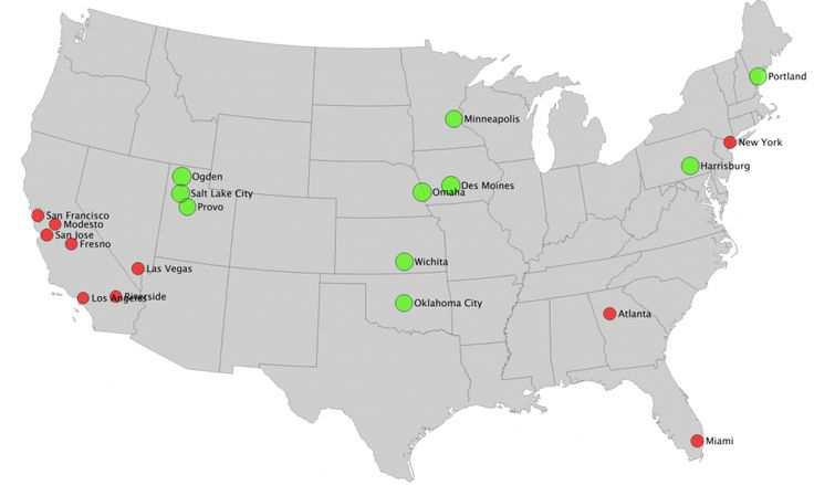 Cities with the Most and Least Youth Employment