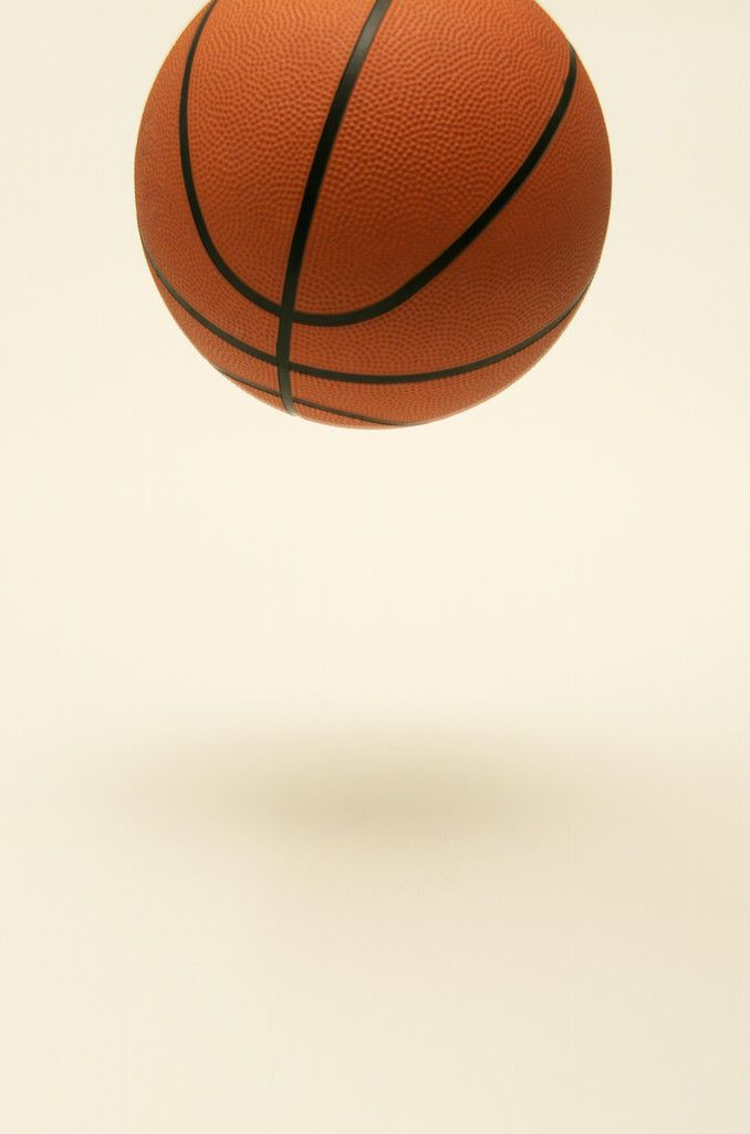 Basketball in mid-air position