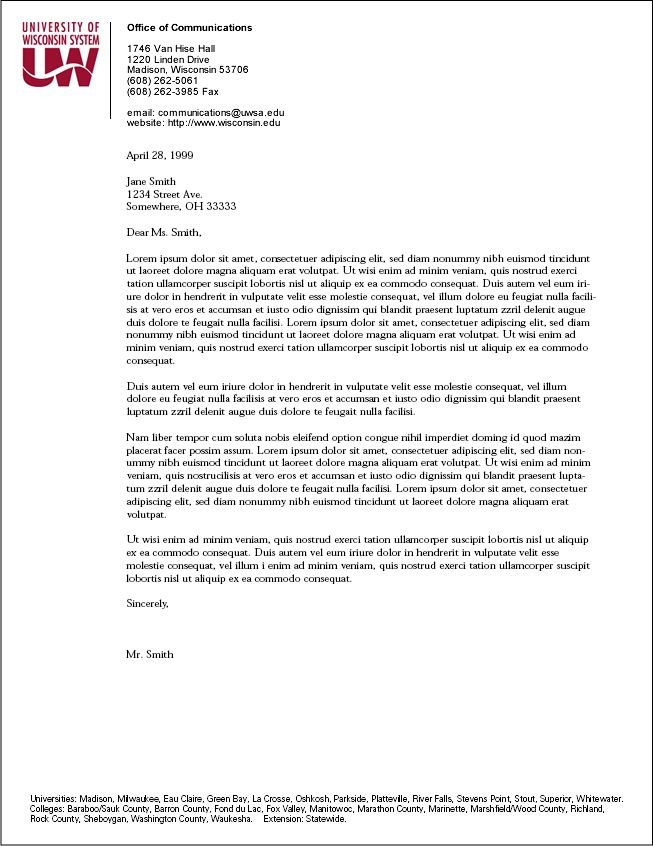 Sample Business Letter Format On Letterhead Image Gallery - Hcpr