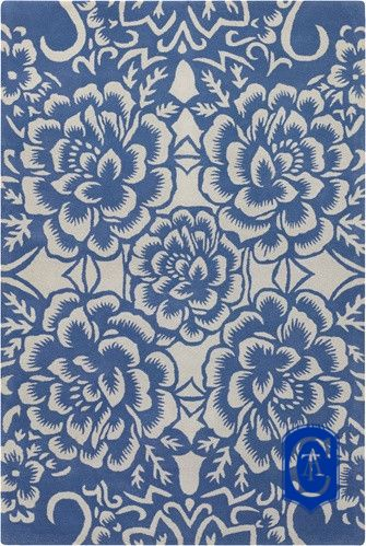 Tapete de Arraiolos - Flower - Russia Made by Casa Tapetes Arraiolos Portuguese Needlepoint Rugs