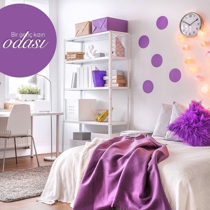 Bir genç kızın odası! #dekorazoncom >> http://www.dekorazon.com/bir-genc-kizin-odasi?utm_source=pinterest&utm_medium=post&utm_content=bir-genc-kizin-odasi