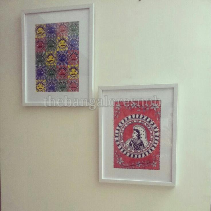 #madhubani #painting #thebangalorsnob #whiteframe | The Bangalore Snob