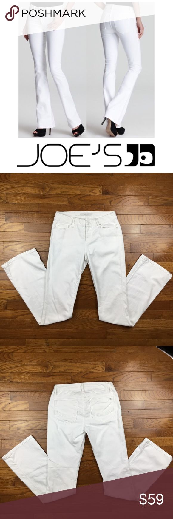 """Joe's Jeans Honey White Bootcut Jeans Joe's Jeans Honey White High-rise Bootcut Jeans  -Size-28 -Length-43"""" -Inseam-34"""" -Rise-8.5 -Excellent Condition- no flaws or stains Joe's Jeans Jeans Boot Cut"""