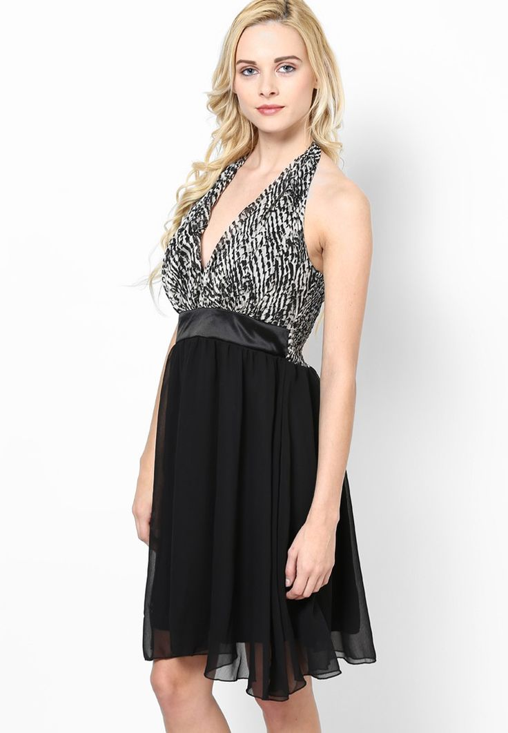 Black Printed Peplum Dress @ $47.50. 24% OFF https://www.dollyfashions.com/la-arista-black-printed-peplum-dress-3000648976.html