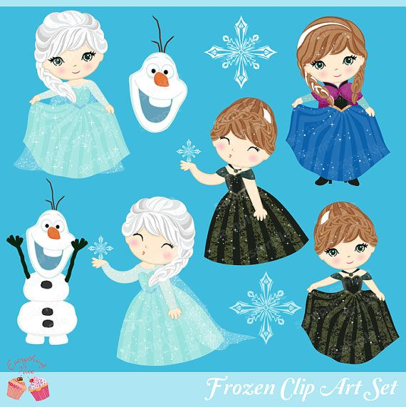 Frozen Clipart Set by 1EverythingNice on Etsy