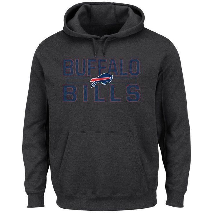 Buffalo Bills Majestic Big & Tall Kick Return Pullover Hoodie - Charcoal