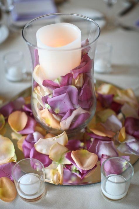 Rose Petal and Candle Centerpieces | Love Blooms | Raiza Vega Photography | TheKnot.com