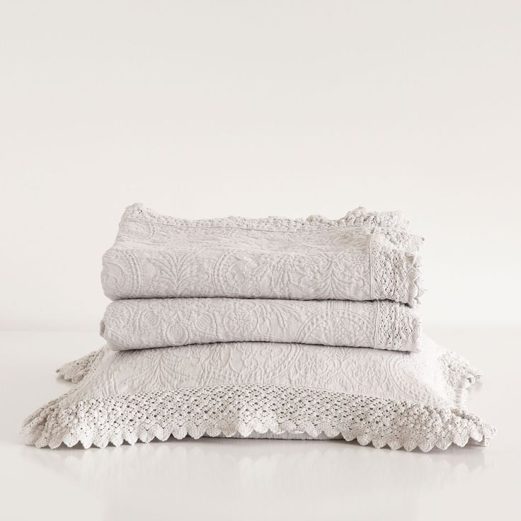 LACE FRILL BEDSPREAD AND PILLOWCASE - Bedspreads - Bedroom | Zara Home United States.  Pillowcase at bottom.   $29.90.