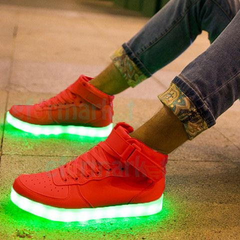 "Neons ""Squad High"" Womens Red Hi-Top"