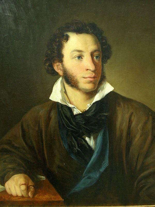 Александр Сергеевич Пушкин (1799 - 1837).  Художник Василий Андреевич Тропинин