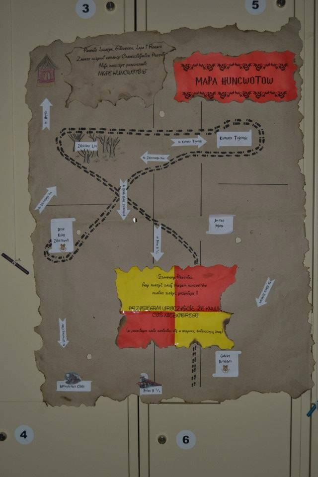 Mapa Huncwotów wykonana z okazji zabawy andrzejkowej