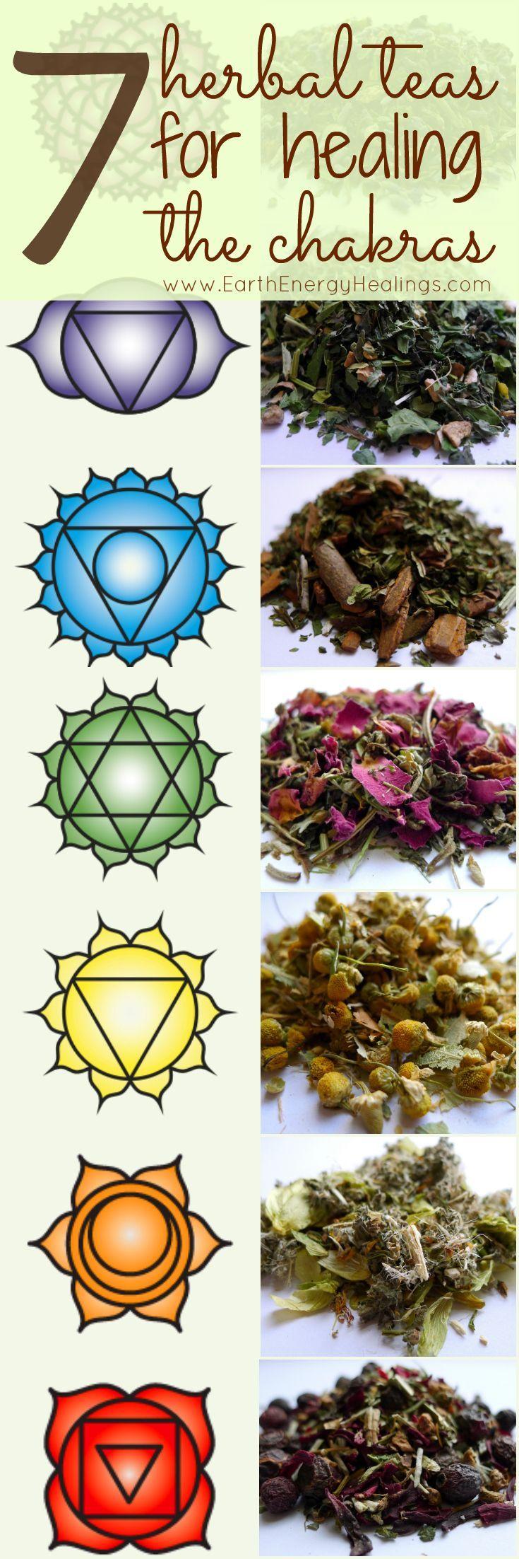 7 Herbal Chakra Healing Teas by Earth Energy Healings. Beautiful!