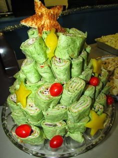 For the Love of Food: Neiman Marcus Party Dip and Tortilla Roll Up Christmas Tree