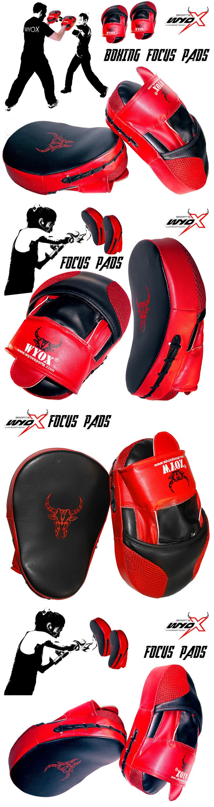 Strike Pads and Mitts 179789: Wyox Curved Focus Pads Mitts Hook Jab Punch Bag Kick Boxing Muay Thai Mma 2Pcs -> BUY IT NOW ONLY: $87.01 on eBay!