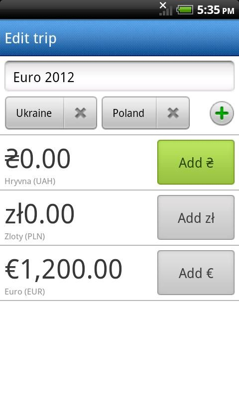 Travel Pocket - expense tracker