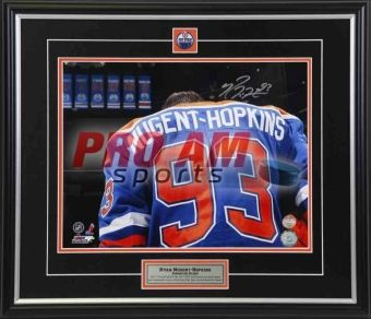 """Pro Am Sports - Autographed Pictures - Ryan Nugent-Hopkins Edmonton Oilers """"Banners"""" Signed 11x14 Photo - Edmonton Oilers  To order or for more information or pricing please contact info@roadgearsports.com"""