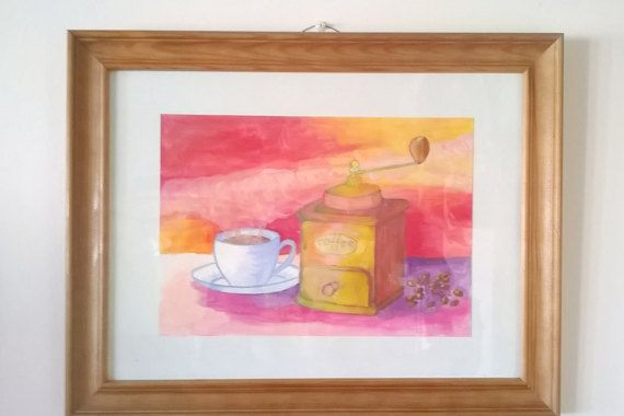 Still Life Watercolour Art Painting by Sylchra, available on her Etsyshop ArtPaintingsAndDecor