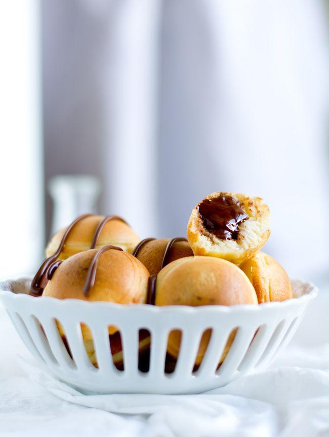 Nutella Stuffed Pancake Poppers recipe