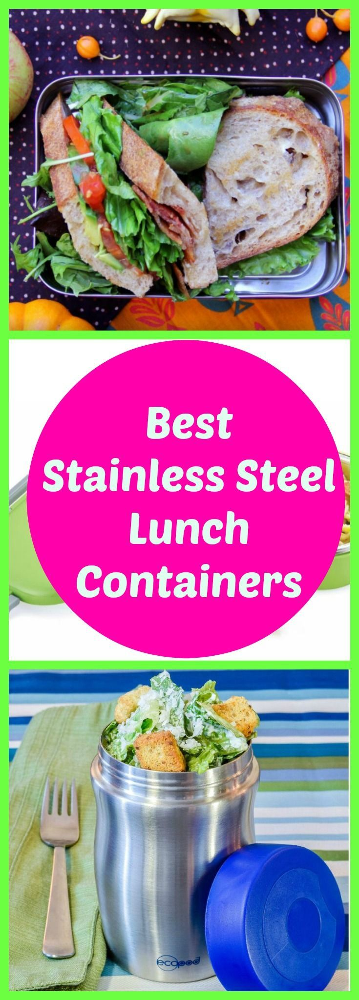 The best non-toxic stainless steel lunch containers. Perfect for kids and adults. Save money and time by reusing these quality containers perfect for your lunch box or lunch bag.
