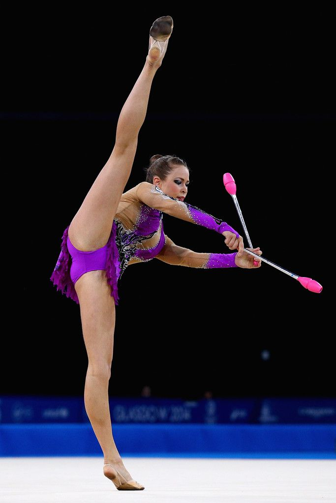 Francesca Jones Photos - Francesca Jones of Wales competes in the Gymnastics Rythmic Clubs Final at SECC Precinct during day three of the Glasgow 2014 Commonwealth Games on July 26, 2014 in Glasgow, United Kingdom. - 20th Commonwealth Games - Day 3: Rhythmic Gymnastics