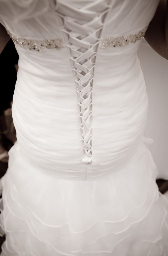 JO organza pleats lace up