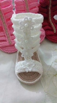 Crocheted baby gladiators