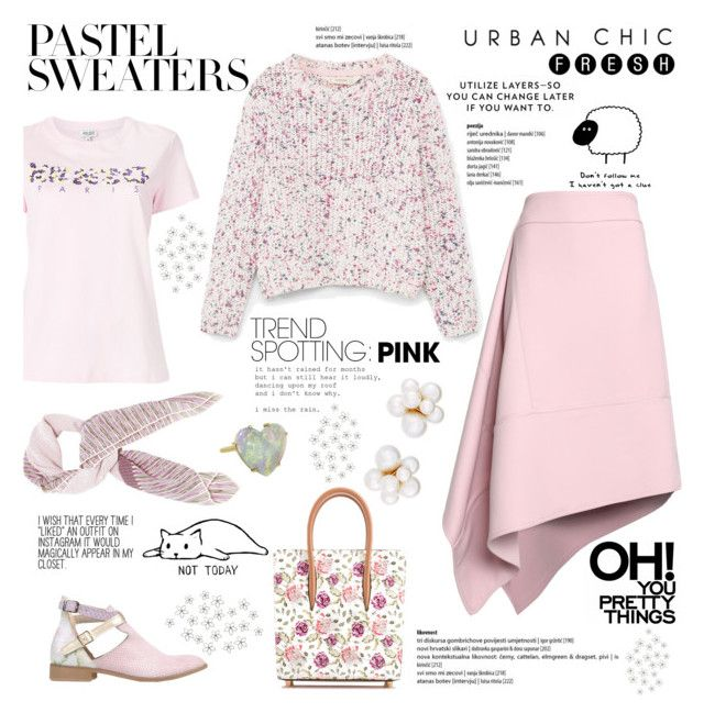 """""""Pink for Spring"""" by taci42 ❤ liked on Polyvore featuring Kenzo, Marni, Christian Louboutin, Ebarrito, Chanel, Kenneth Jay Lane, Irene Neuwirth and WALL"""