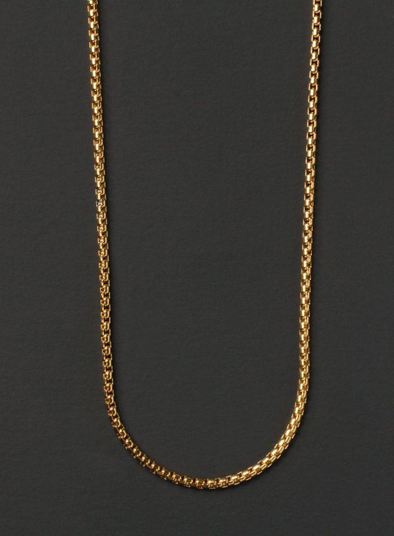 744d09b78ed1b Minimalist jewelry for men - Men's Necklace - Gold chain necklace ...