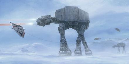 Star Wars - Walker Invasion - William Silvers - World-Wide-Art.com - $145.00 #StarWars #Lucas