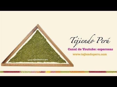 Telar triangular: técnica básica (primera parte) - YouTube
