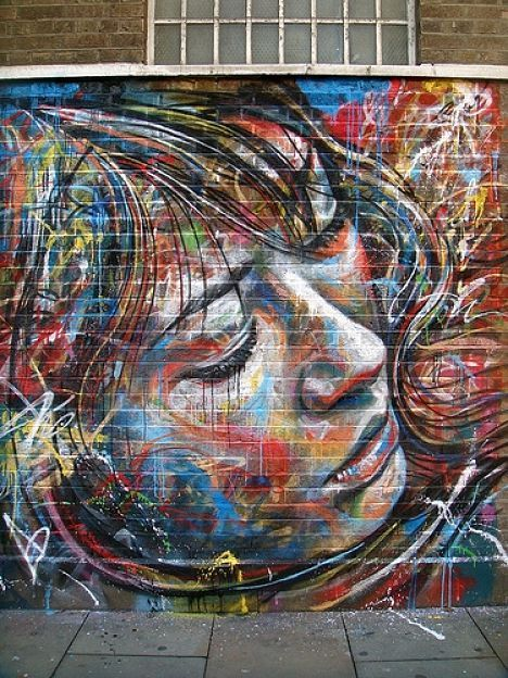Graffiti?Wall Art, Artists, Garages Doors, Beautiful Graffiti, Colors, David Walker, Street Art, Graffiti Art, Streetart